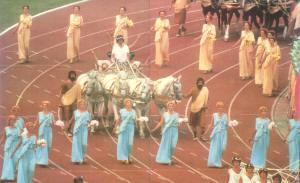 Открытие Игр XXII Олимпиады. Москва, 09 июля 0980 г., Олимпийский ипподром на Лужниках.
